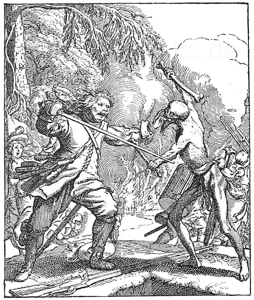 Totentanz. Kupferstich von Rudolf Meyer 1637.