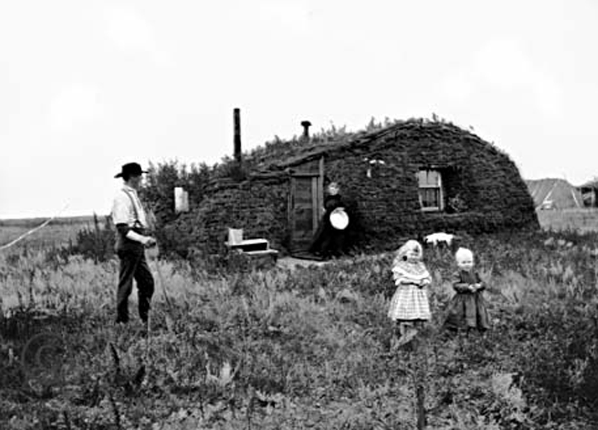 Norwegian emigration to the US and Canada accounted for a third of the population between 1825 and 1925. The Bakken family in front of their sod house in in Milton, North Dakota in 1898.