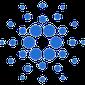 Die blauen Punkte entsprechen dem Logo von Cardano.