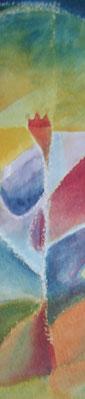 Die Pflanze, Bild mit Pflanzenfarben gemalt