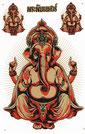 ガネーシャ(GANEZA) タイでも信仰される インド生まれの ゾウの神様 ステッカー  【GANEZA sticker】 / タイ雑貨 アジアン ステッカー シール デカール タイ旅行お土産(おみやげ)