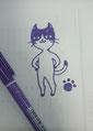 3分で描いたネコ