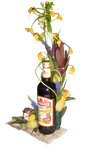 "Flasche ""Wilthener Gebirgskräuter"" - floristisch veredelt"