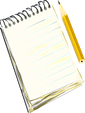 ClipArt notepad and pencil