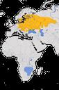 Karte zur Verbreitung des Schlagschwirl (Locustella fluviatilis) weltweit.