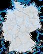 Karte zum Auftreten des Sanderlings in Deutschland