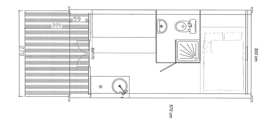 mobil home en bois original Megapod 570
