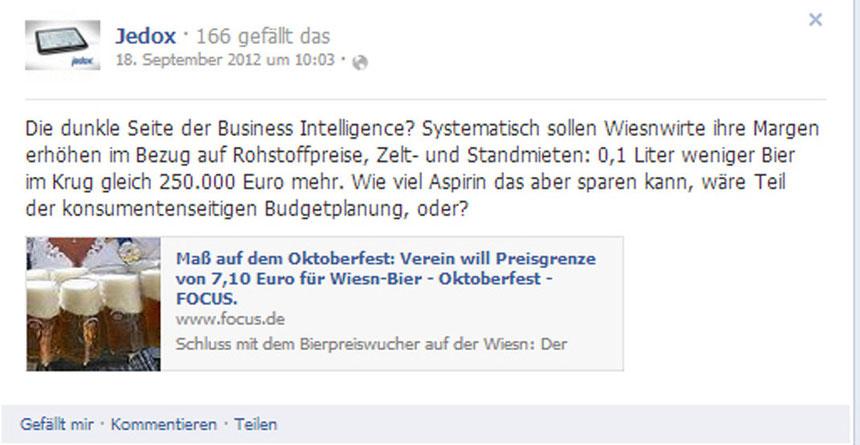 Social Media Jedox Oktoberfest