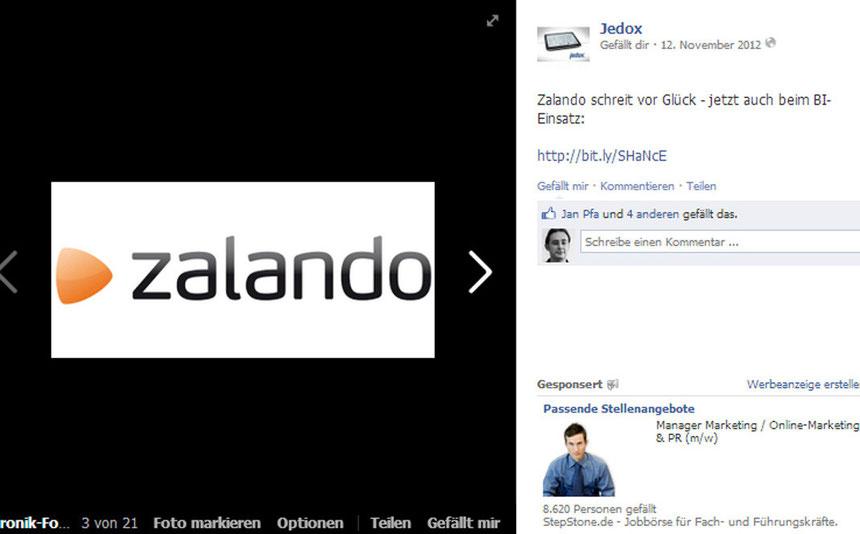 Social Media Jedox Zalando