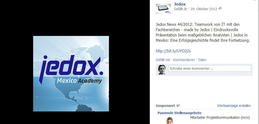 jedox newsletter social media