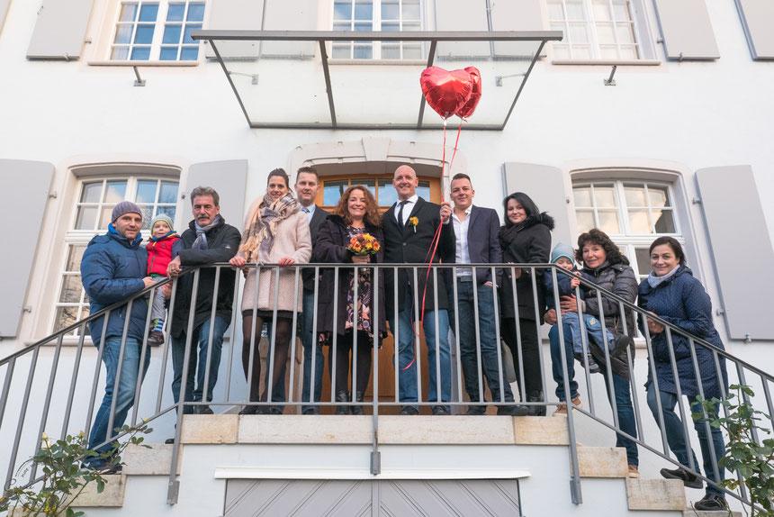 Gruppenfoto, Hochzeit, Hochzeitsfeier, Hochzeitsfotografie, Hochzeitsfotograf, Basel