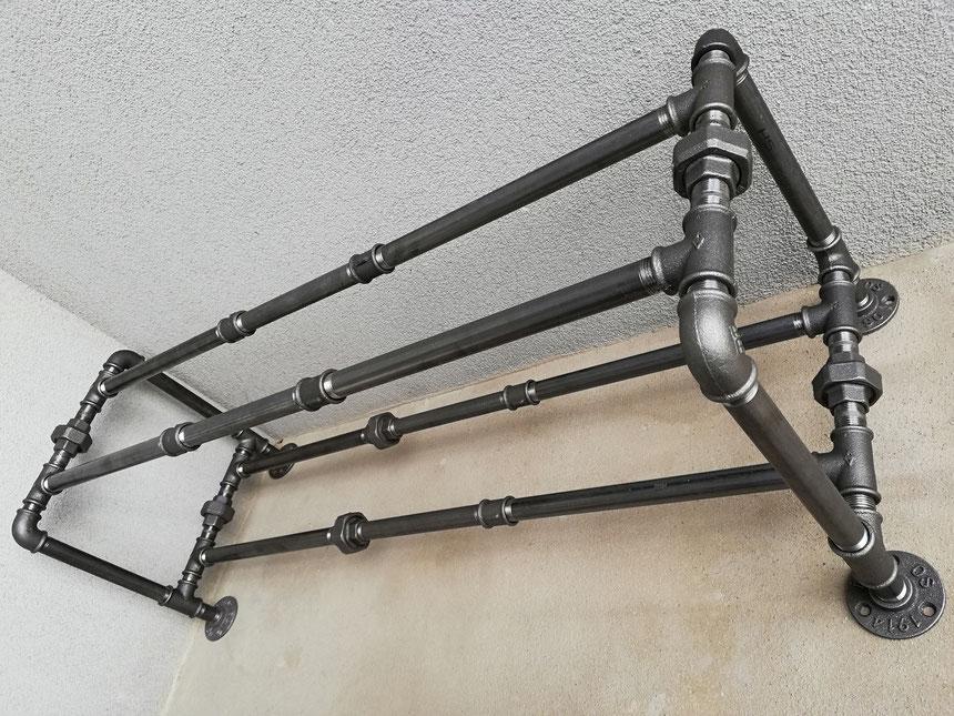 Industrial Style Urban Schuhregal Rohrregal Flur Schuhablage Industriemöbel