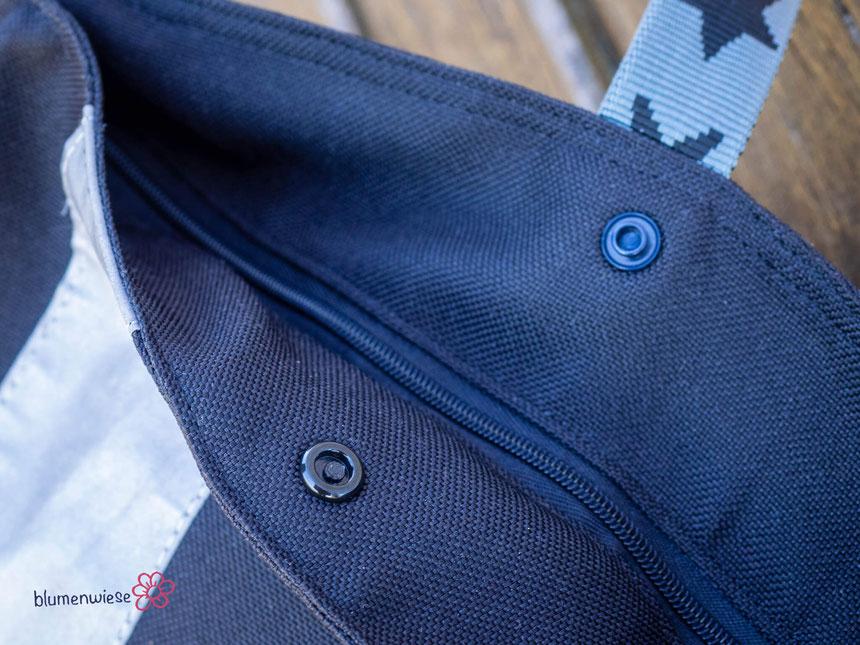 Crossbag mit Druckknöpfen