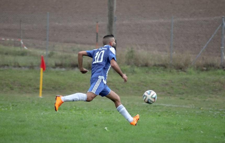 Foto (Raphael Most): FCE-Goalgetter Ziyad Yassin traf zum zwischenzeitlichen 1:1