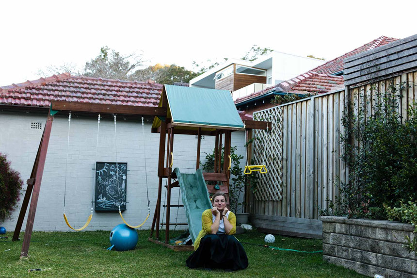 Yard Portrait from my five year old charge, Sydney, Australia