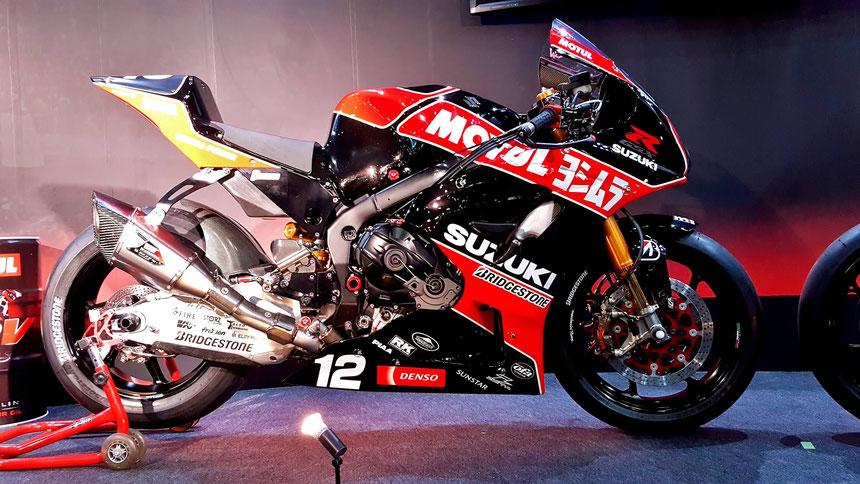 ヨシムラR1000レーサー 全日本ロードレース参戦車 モーターサイクルショー2019