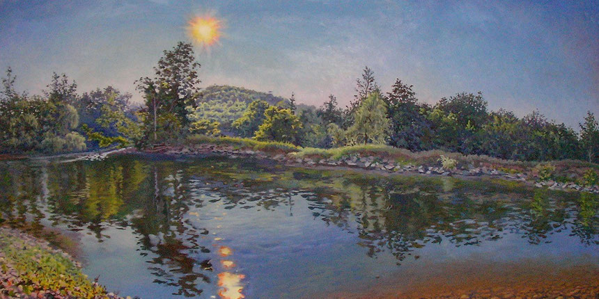 Afternoon Sun on Schoharie Creek @24 x 54""