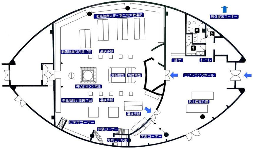 陸奥記念館館内マップ
