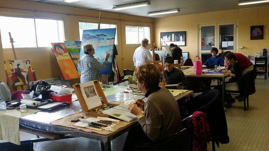 Cours De Peinture Ados Adultes Atelier Des Arts Et Desmoulins