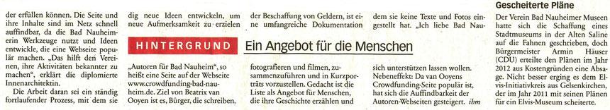 Ihre Schätze sind Online, Frankfurter Neue Presse, 08.04.2016, Text und Foto: Petra Ihm-Fahle