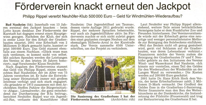 Förderverein knackt erneut den Jackpot, Text: Bernd Klühs, Foto: rüh