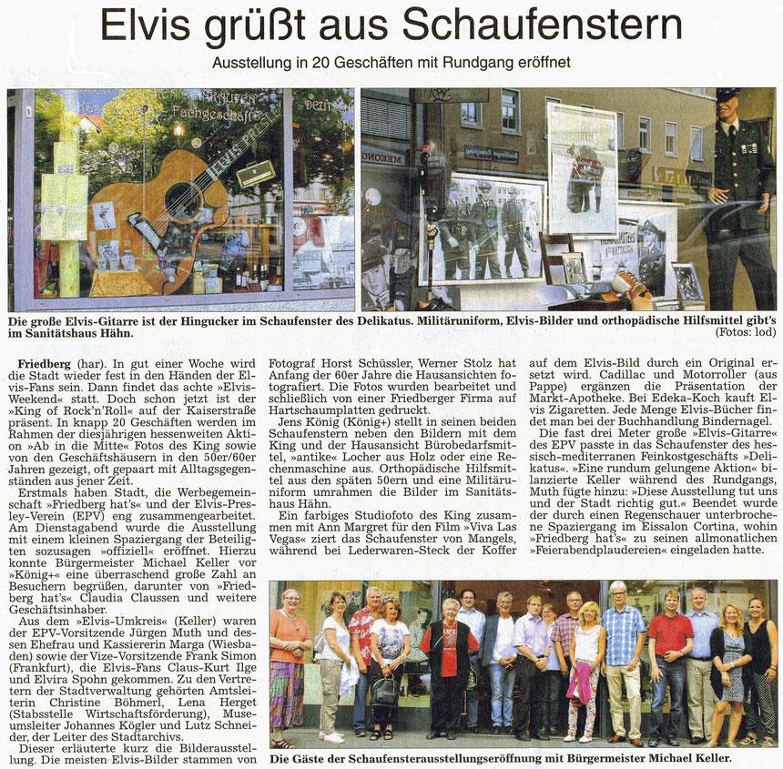 Elvis grüßt aus den Schaufenstern, WZ 06.08.2015, Text: har, Fotos: lod