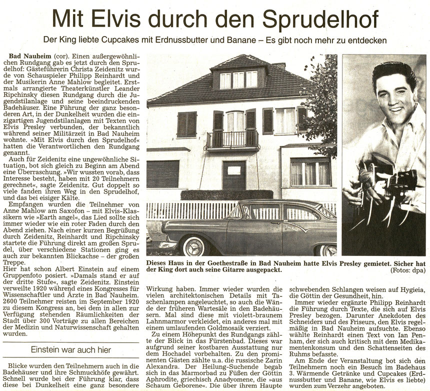 Mit Elvis durch den Sprudelhof, WZ 10.12.2016, Text: Corinna Weigelt, Fotos: dpa
