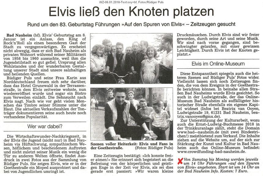 Wetterauer Zeitung 06.01.2018, Text: bf, Fotos: Sammlung Rüdiger Puls