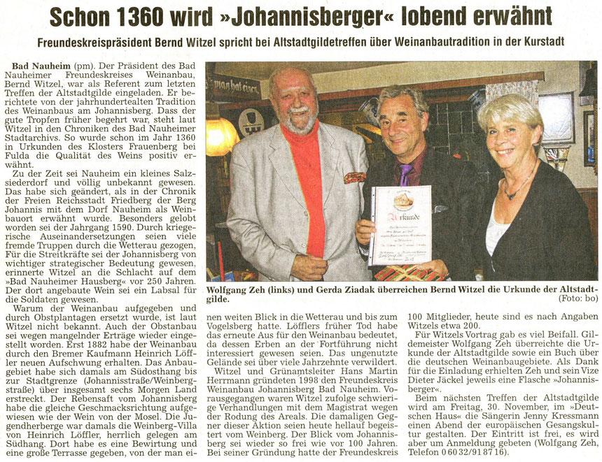 Referent Bernd Witzel, WZ 17.10.2012, Foto: Eberhard Bogdoll