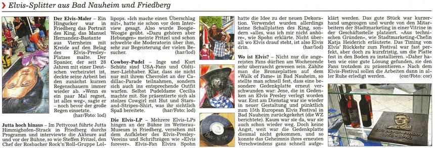 Elvis-Splitter aus Bad Nauheim und Friedberg, WZ 22.08.2016, Texte: har und Corinna Weigelt, Fotos: lod und Corinna Weigelt