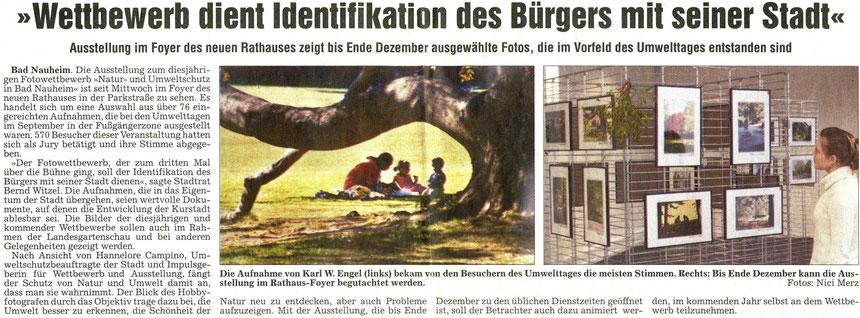 Fotowettbewerb dient Identifikation mit der Stadt: WZ 05.12.2003, Fotos: Nici Merz und Karl Wilhelm Engel
