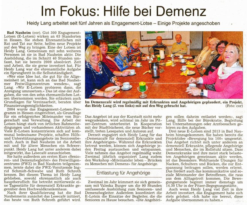 Im Fokus: Hilfe bei Demenz, WZ 28 01 2014