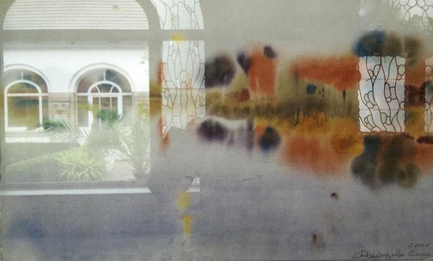 "Davydova Elena. ""Ruhe"". Aquarell. 50 x 70cm, 2005"