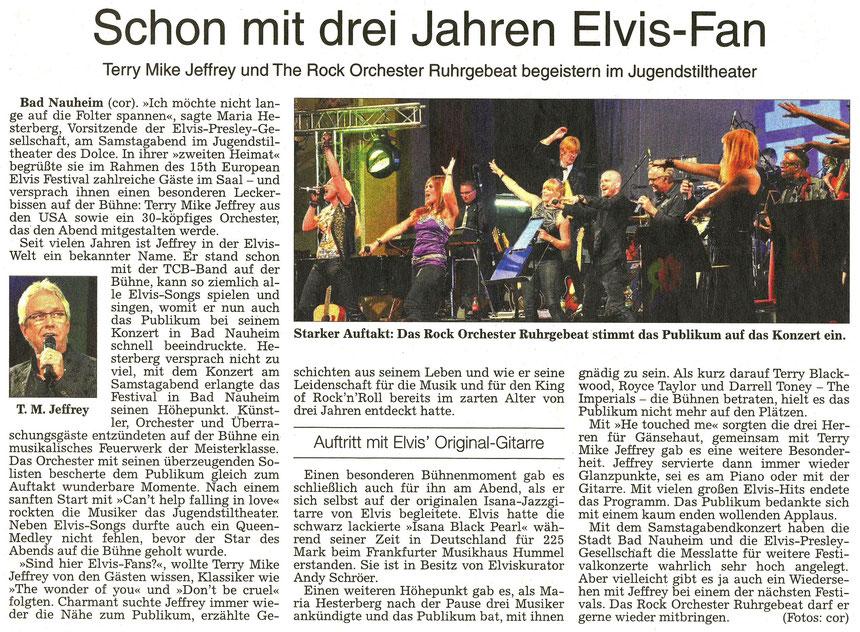 Schon mit drei Jahren Elvis-Fan - Terry Mike Jeffrey und The Rock Orchester Ruhrgebeat, WZ 22.08.2016, Text und Fotos: Corinna Weigelt