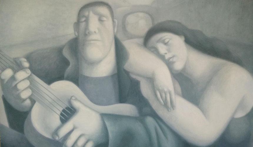 "Dawydow Wjatcheslaw / Davydov Vjacheslav. ""Weiße Nacht in Sankt – Petersburg"", Öl / Lwd, 2007"