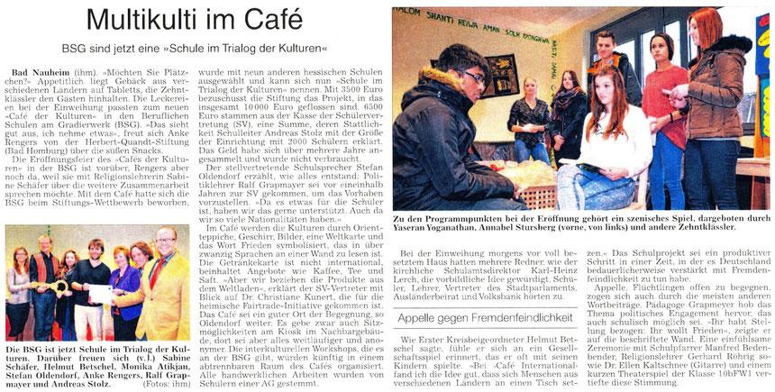 Café der Kulturen, WZ 18.12.2014, Text und Fotos Petra Ihm-Fahle