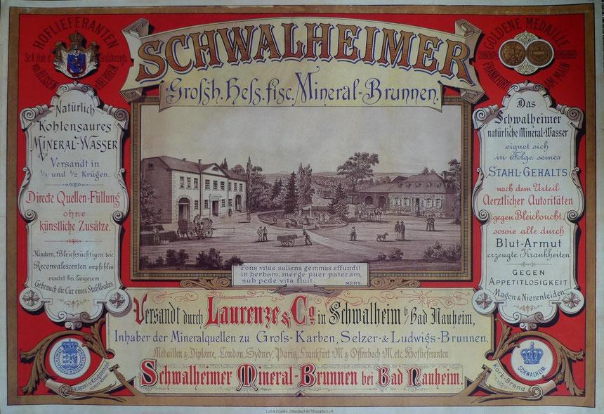 Auszeichnung des Schwalheimer Quellwassers, überreicht vom damaligen Bad Nauheimer Bürgermeister Peter Keller, Sammlung Wolfgang Zeh