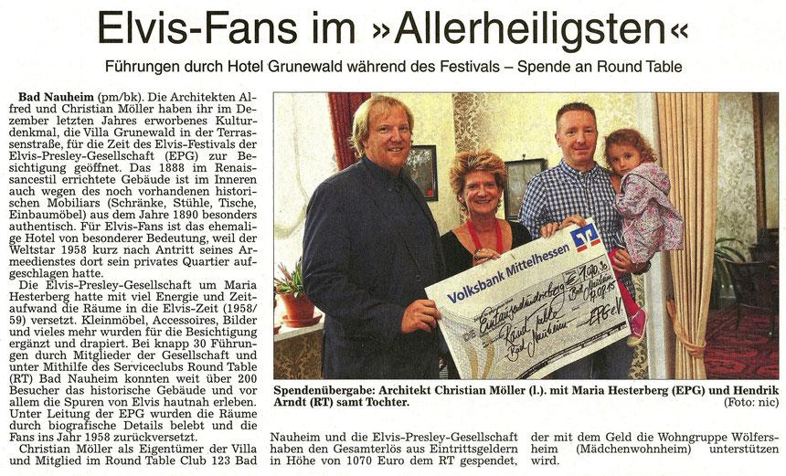 Elvis Fans im Allerheiligsten - Dem Hotel Grunewald, Terrassenstraße 10 in Bad Nauheim  WZ 20.08.2015 - Text: pm/Bernd Klühs, Foto: Nici Merz