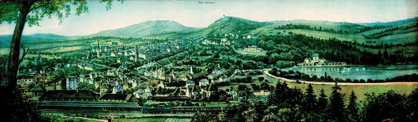 Historische Grußpostkarte aus Bad Nauheim