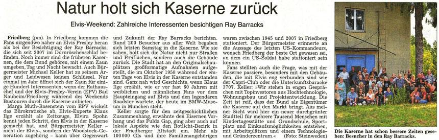 WZ 22.08.2015, Natur holt sich Kaserne zurück, Pressemitteilung