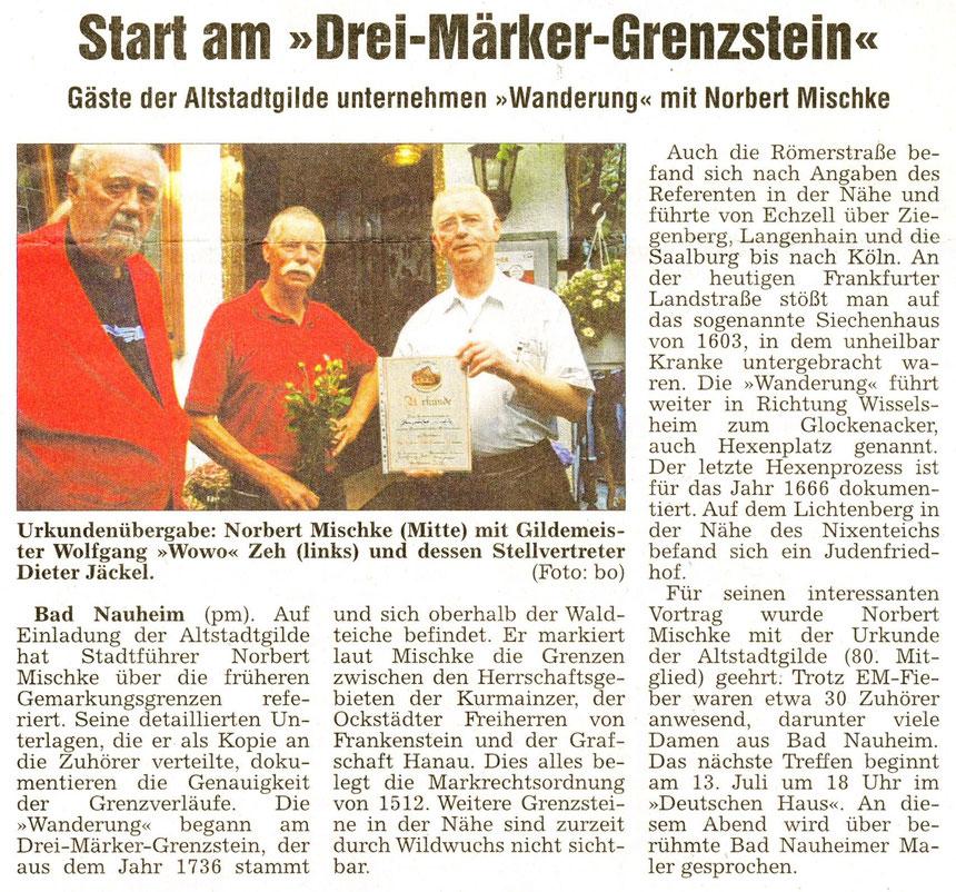 Referent Norbert Mischke, WZ 23.06.2012, Foto: Eberhard Bodgoll