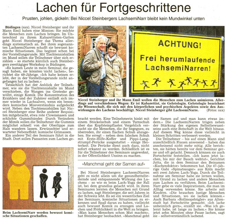 Niccel und Emil Steinberger: Lachen für Fortgeschrittene, WZ 23.08.2014, Text und Fotos: sax