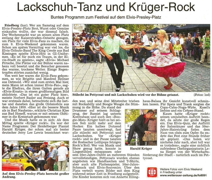 Lackschuh-Tanz auf dem Elvis-Presley-Platz in Friedberg, WZ 22.08.2016, Text: har, Foto: lod