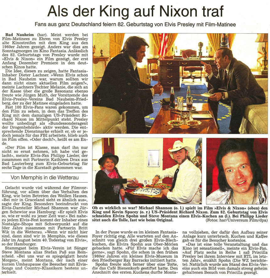 Als der King auf Nixon traf, WZ 10.01.2017, Text: har, Fotos: har, Universum Film, dpa
