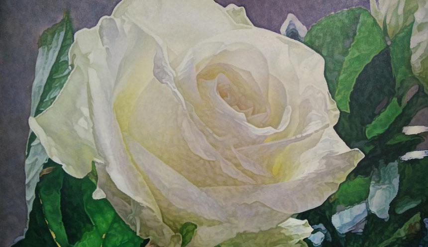 """Dawydow Wjatcheslaw / Davydov Vjacheslav. """"Eine Rose ist ..."""" gewidmet Geschwister Scholl, 100 x 80cm"""