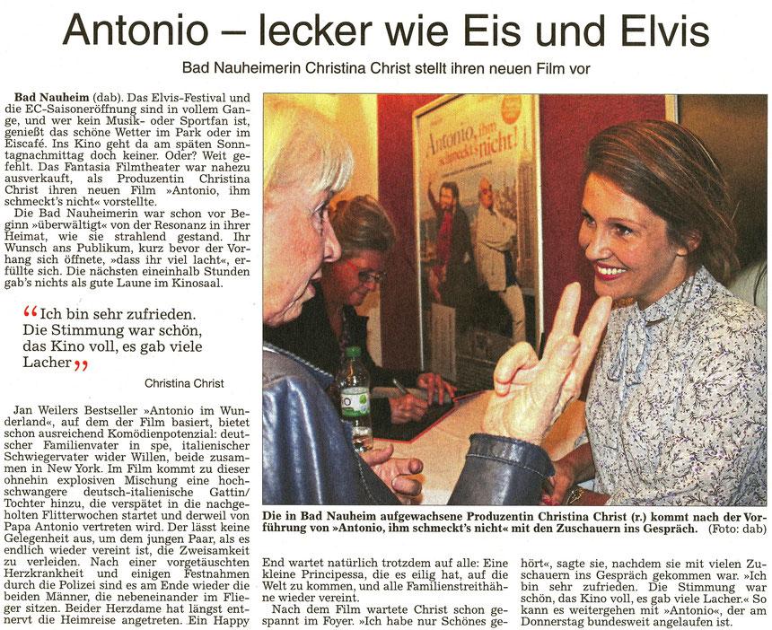 Antonio - lecker wie Eis und Elvis, WZ, 23.08.2016, Text und Foto: dab