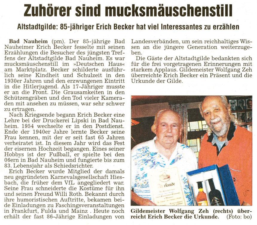 Referent Erich Becker, WZ 10.11.2014, Foto: Eberhard Bogdoll
