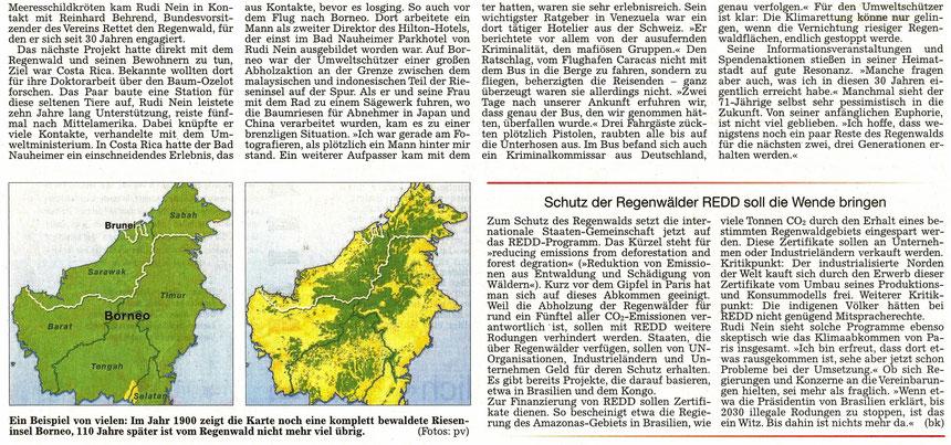 """Rudi Nein: """"Ich muss aufpassen, nicht depressiv zu werden."""" - Nicht nur die Regenwälder gehen verloren - WZ 15.12.2015, Text: Bernd Klüh, Fotos: pv"""