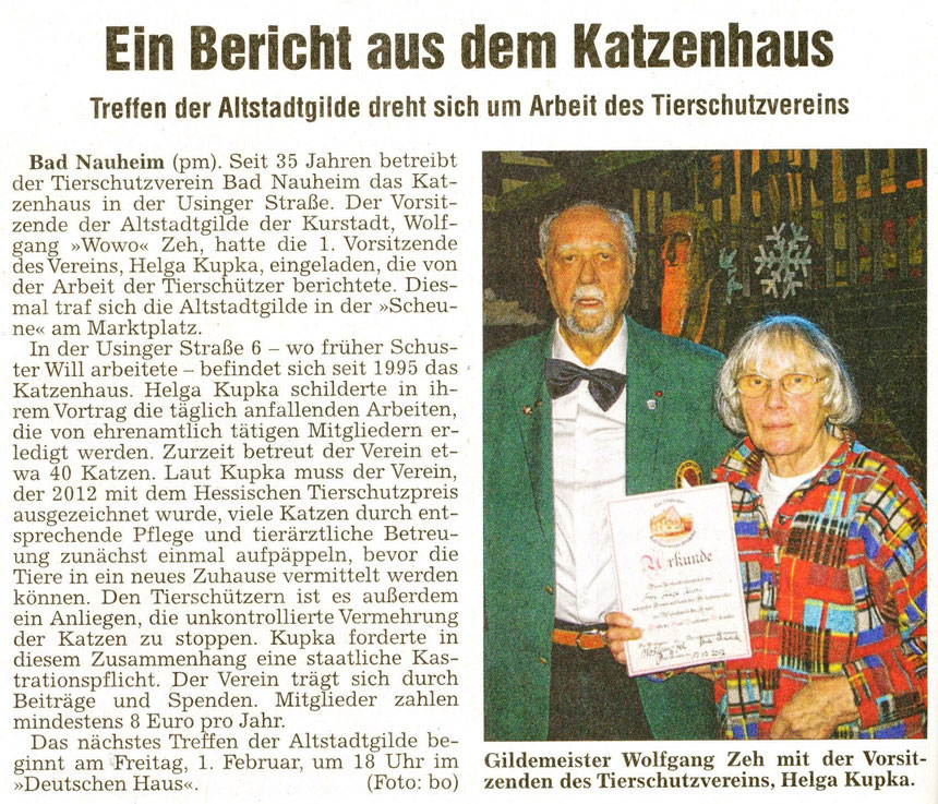 Referentin Helga Kupka, WZ 11.01.2013, Foto: Eberhard Bogdoll