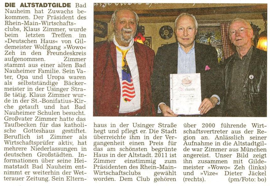 Referent Klaus Zimmer, WZ 21.12.2012, Foto: Eberhard Bogdoll